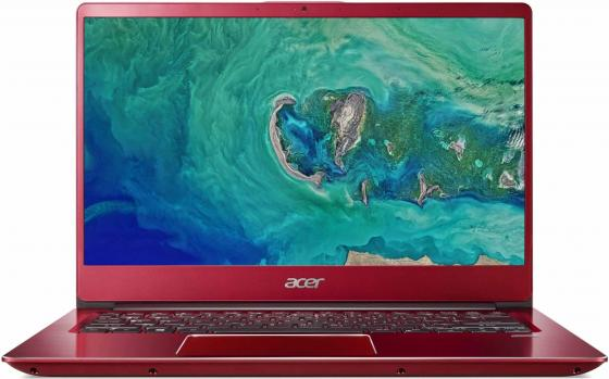 "Ноутбук Acer Swift SF314-54G-80Q6 14"" 1920x1080 Intel Core i7-8550U 256 Gb 8Gb nVidia GeForce MX150 2048 Мб красный Linux NX.H07ER.006 монитор 24 acer s240hlbid black et fs0he 006 et fs0he 006"
