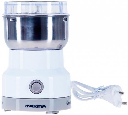 Кофемолка Maxima MCG-1602 (белый) maxima elite 2 в 1