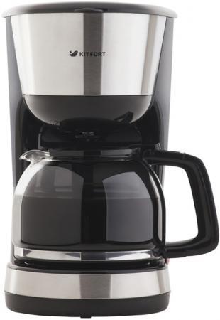 Кофеварка капельная Kitfort КТ-715 1000Вт черный кофеварка kitfort кт 704 2 черная