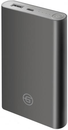 Ginzzu Внешний аккумулятор 8000mAh/5V/2,4A, темно-серый (GB-3908G) аккумулятор внешний kreafunk tocharge темно серый
