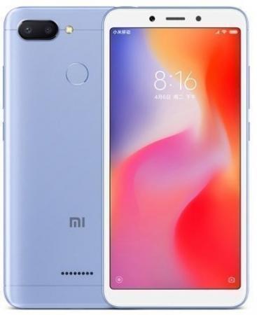 Смартфон Xiaomi Redmi 6 синий 5.45 64 Гб LTE Wi-Fi GPS 3G смартфон huawei y5 2018 prime синий 5 16 гб lte wi fi gps 3g dra lx2