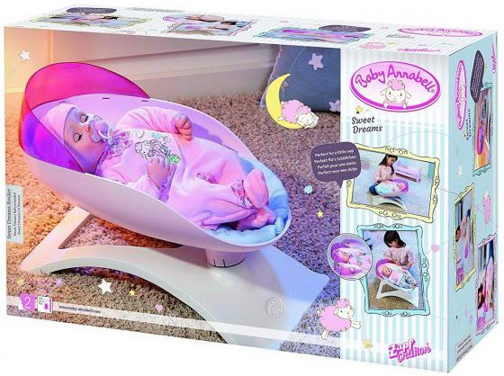 Кроватка-качалка для кукол Zapf Creation Baby Annabel аксессуары для кукол zapf игрушка baby annabell памперсы