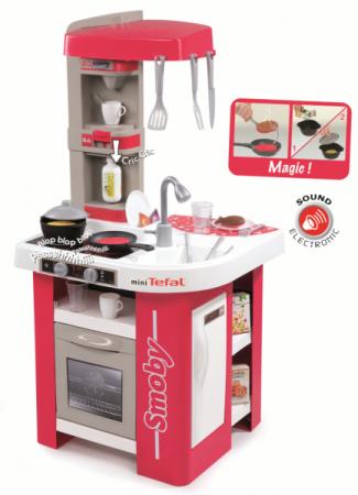 Электронная кухня SMOBY Эл.кухня Tefal Studio 27 предметов smoby набор тостер кофеварка tefal 24550