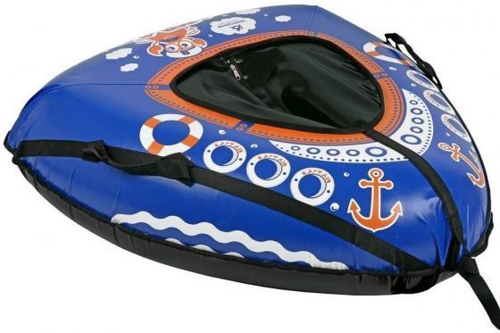 Тюбинг RT Корабль до 100 кг ПВХ синий 6934 тюбинг rt апельсин с автокамерой до 100 кг пвх оранжевый 73 см 4997