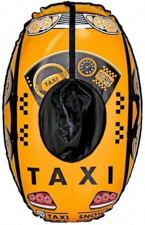 Тюбинг RT Машинка: Taxi Snow до 120 кг ПВХ желтый 6930 тюбинг rt жемчужины до 120 кг пвх полипропилен рисунок диаметр 118 см