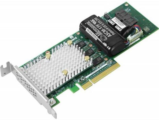 Microsemi Adaptec SmartRAID 3162-8i Single ,8 internal ports, PCIe Gen3 ,x8,1 GB DDR4,RAID 0/1/10,RAID 5/6/50/60,FlexConfig,maxCache 4.0