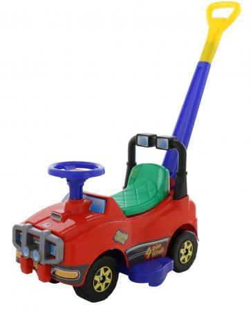 Каталка-машинка Molto Автомобиль Джип-каталка с ручкой №2 пластик от 1 года с ручкой красный полесье автомобиль каталка джип с ручкой цвет красный
