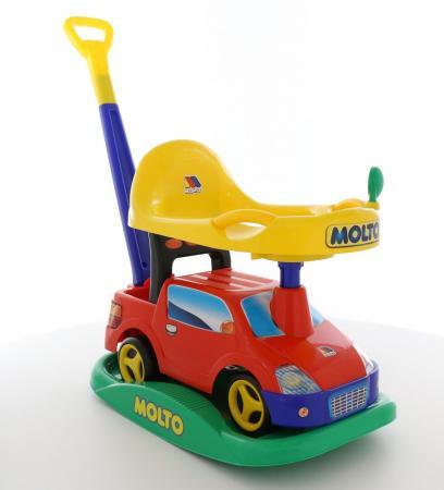 Каталка-машинка Molto Автомобиль-каталка Пикап пластик от 1 года с ручкой для родителей красный каталка машинка molto автомобиль каталка пикап красный от 1 года пластик