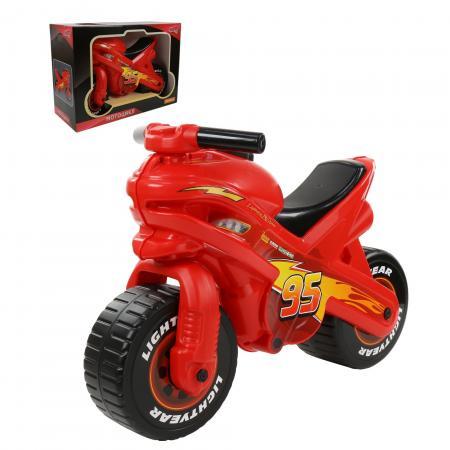 Фото - Каталка-мотоцикл Molto Каталка-мотоцикл Disney/Pixar Тачки пластик от 3 лет на колесах красно-черный каталка мотоцикл molto каталка мотоцикл marvel человек паук разноцветный от 3 лет пластик