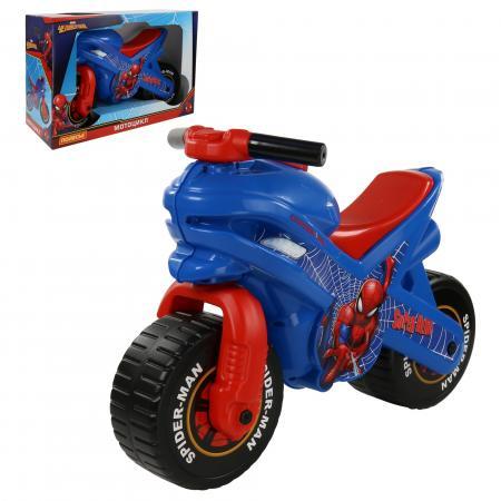 Каталка-мотоцикл Molto Каталка-мотоцикл Marvel Человек-паук пластик от 3 лет на колесах разноцветный каталка трактор r toys ор931к пластик от 10 месяцев на колесах красно желтый