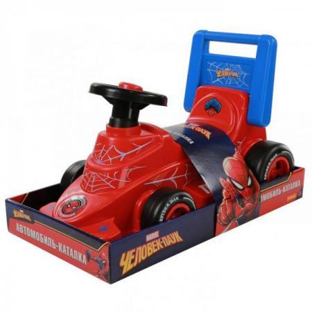 Каталка-машинка Molto Автомобиль-каталка Marvel Человек-паук пластик от 3 лет на колесах красно-черный каталка машинка molto автомобиль каталка пикап красный от 1 года пластик
