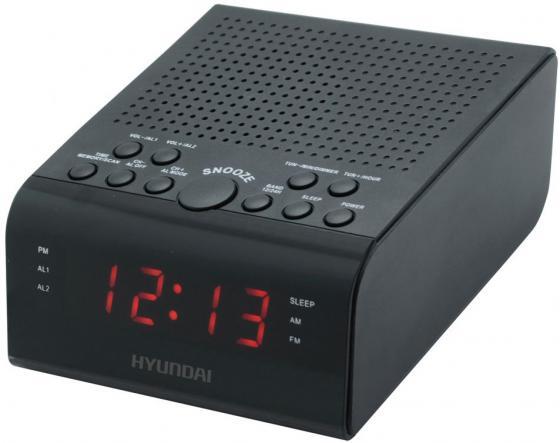 Радиобудильник Hyundai H-RCL180 черный LED подсв:красная часы:цифровые FM радиобудильник philips aj1000 12