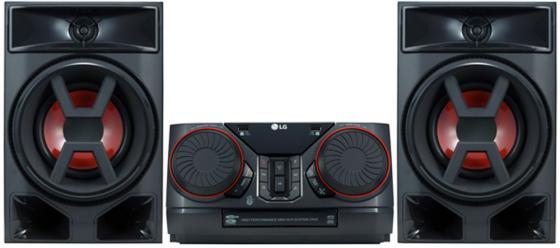 Минисистема LG CK43 черный 300Вт/CD/CDRW/FM/USB/BT lg cm9750 black минисистема cd