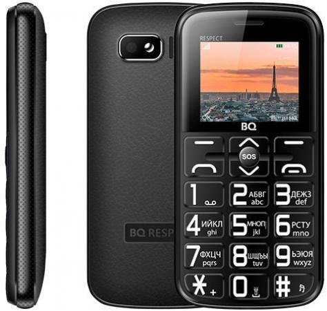 BQ 1851 Respect Black Мобильный телефон мобильный телефон alcatel onetouch 2008g black white