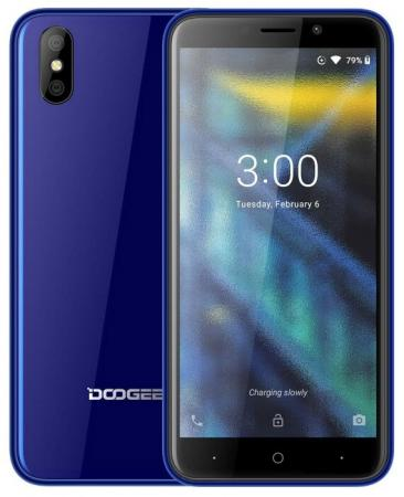 Смартфон Doogee X50L синий 5 16 Гб 3G Bluetooth LTE Wi-Fi GPS смартфон doogee x10 серебристый 5 8 гб wi fi gps 3g mco00055519