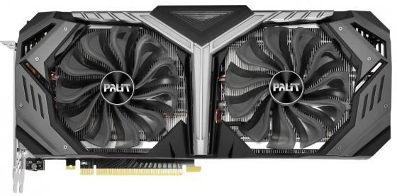 Видеокарта Palit PCI-E PA-RTX2070 GAMEROCK PREMIUM 8G nVidia GeForce RTX 2070 8192Mb 256bit GDDR6 1410/14000/HDMIx1/DPx3/Type-Cx1/HDCP Ret цена и фото
