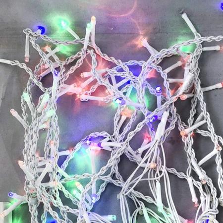 Гирлянда электрическая 120LED Портьера цветного свечения, белый провод 3,6м,1 реж гирлянда мигающая д улицы 9м 120led синий