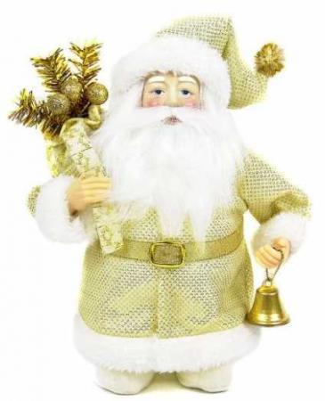 Кукла Дед Мороз 20 см, золото ёлочное украшение новогодняя сказка дед мороз 13 см пластик