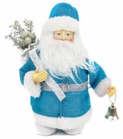 Кукла Дед Мороз 20 см, синий. ёлочное украшение новогодняя сказка дед мороз в санях 10 4 см пластик