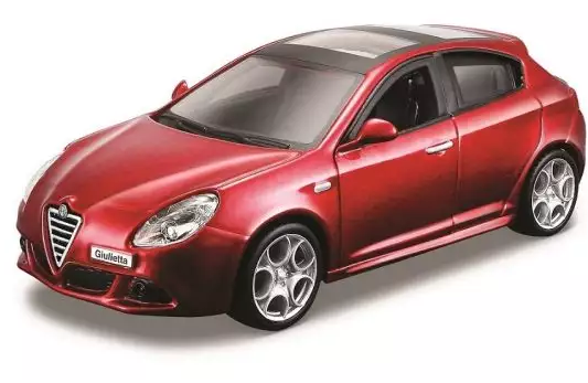 Автомобиль Bburago Alfa Romeo 1:32 красный модель машины bburago 1 32 alfa romeo giulietta 18 43000 3