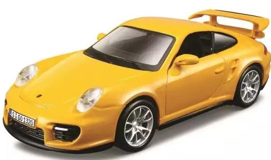 Автомобиль Bburago Porsche 1:32 желтый bburago машина mercedes benz cl550 металл сборка 1 32 bburago