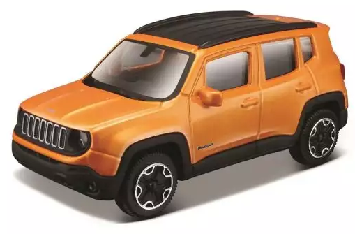 Автомобиль Bburago Jeep 1:43 оранжевый автомобиль bburago bmw 3 series touring 1 24 белый 18 22116