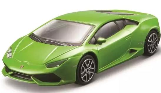Автомобиль Bburago Lamborghini 1:43 салатовый bburago сборная модель автомобиля lamborghini reventon цвет белый