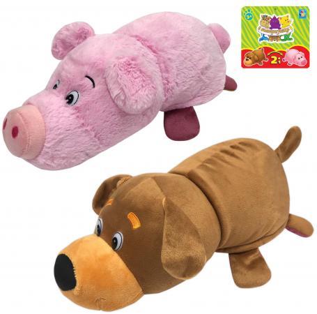 Мягкая игрушка Вывернушка 2в1 Собака-Свинья, 35 см