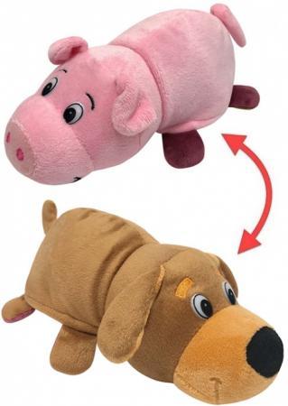 Мягкая игрушка Вывернушка 2в1, Собака-Свинья, 20 см