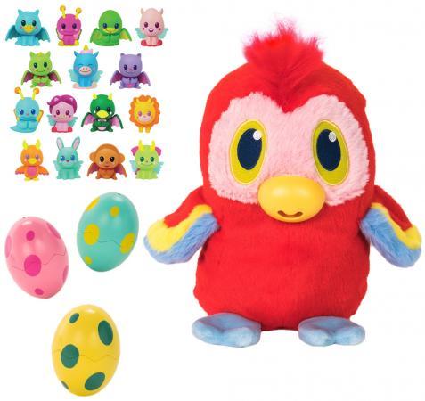 Мягкая игрушка попугай 1toy Дразнюка-несушка. Дразнюгай 20 см текстиль пластик плюш наполнитель мягкая игрушка цыпленок 1toy дразнюка несушка арапопка плюш наполнитель текстиль пластик 20 см