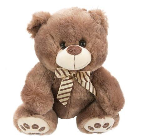 Мягкая игрушка медведь Fluffy Family Мишка Бантик 30 см коричневый искусственный мех наполнитель мишка fluffy family тимка 30 см розовый 681258