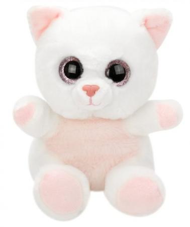 Мягкая игрушка котенок Fluffy Family Крошка Котенок бел. 15 см белый искусственный мех наполнитель white light