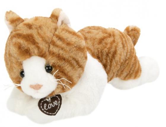 Мягкая игрушка кошка Fluffy Family Кошка Лежебока 28 см белый искусственный мех наполнитель игрушка fluffy family поросенок чен 17cm 681500