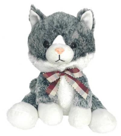 Мягкая игрушка кот Fluffy Family Котенок 24 см белый серый искусственный мех трикотаж пластмасса наполнитель мягкая игрушка котенок fluffy family крошка котенок бел 15 см белый искусственный мех наполнитель