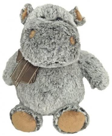 Мягкая игрушка бегемот Fluffy Family Бегемот 21 см серый коричневый искусственный мех пластмасса наполнитель hansa мягкая игрушка бегемот