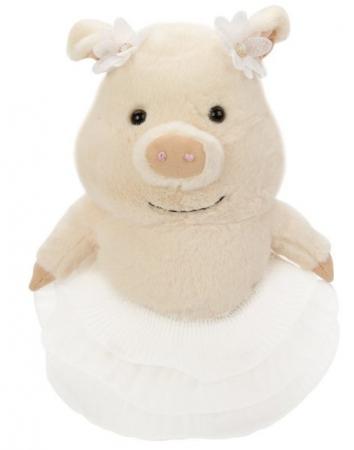 Мягкая игрушка свинка Fluffy Family Мама Свинка 20 см искусственный мех трикотаж пластмасса мягкая игрушка единорог fluffy family единорог искусственный мех пластмасса наполнитель розовый 80 см