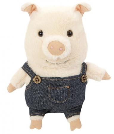 Мягкая игрушка свинка Fluffy Family Братец Свин 15 см искусственный мех трикотаж пластмасса наполнитель мягкая игрушка единорог fluffy family единорог искусственный мех пластмасса наполнитель розовый 80 см