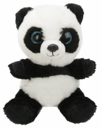 Мягкая игрушка панда Fluffy Family Крошка Панда 15 см белый черный искусственный мех наполнитель мягкие кресла family кресло игрушка панда f 55