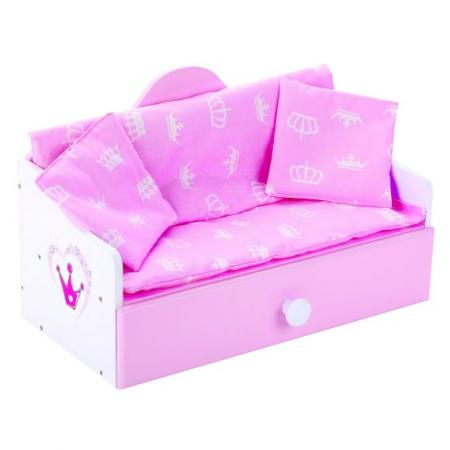 Кроватка для кукол Mary Poppins Кроватка-софа деревянная Корона цена