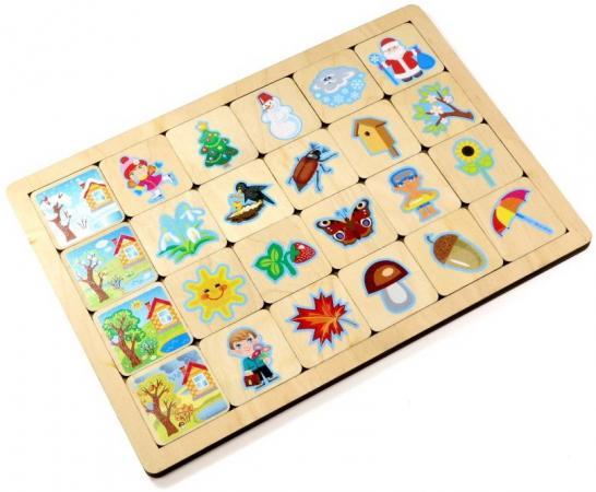 Настольная игра развивающая Десятое королевство Времена года магнитная игра десятое королевство обучающая времена года