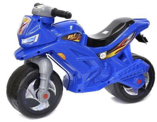 все цены на Каталка-мотоцикл Orion Toys ОР501С пластик от 2 лет на колесах синий онлайн