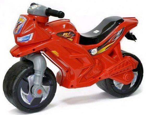 все цены на Каталка-мотоцикл Orion Toys ОР501в3Кр пластик от 2 лет на колесах красный онлайн