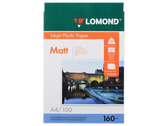 Фото - Фотобумага Lomond A4 160г/кв.м односторонняя матовая 100л 0102005 фотобумага