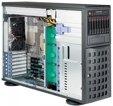 Серверная платформа 4U SATA BLACK SYS-7048R-C1RT4+ SUPERMICRO