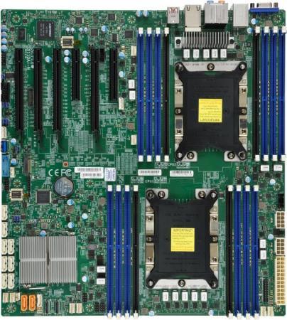 лучшая цена Материнская плата Supermicro MBD-X11DAI-N-O Socket 3647 C621 16xDDR4 4xPCI-E 16x 2xPCI-E 8x 10 EATX Retail