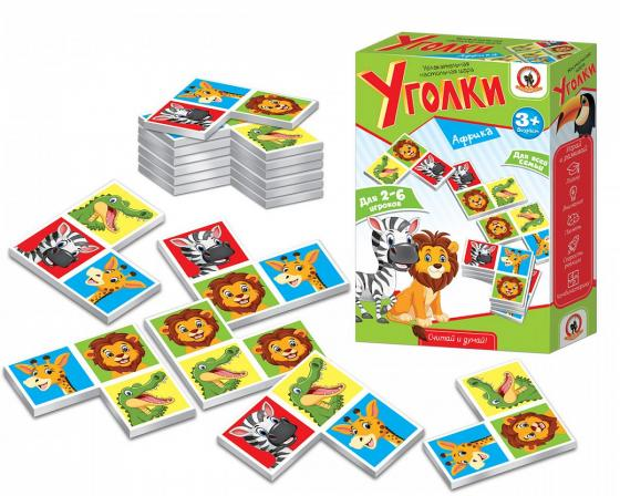 Купить Настольная игра карточная Русский Стиль Уголки Африка, 15 X 5 X 23 см, Настольные игры для детей