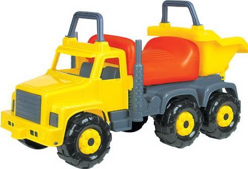 Каталка-машинка Полесье Супергигант пластик от 1 года на колесах разноцветный каталка стеллар гусеница с шариками пластик от 1 года на колесах разноцветный 01391 cteллap