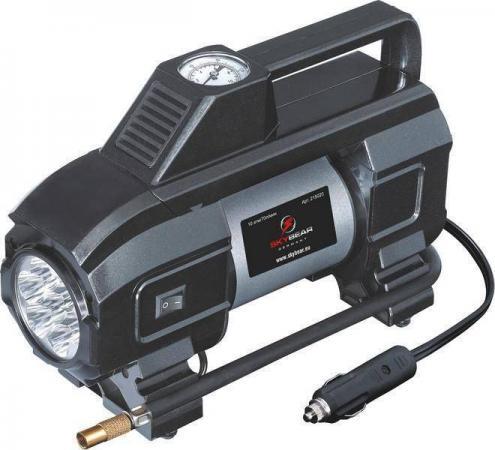 Компрессор двухпоршневой SKYBEAR 215020 с светодиодным фонарем 12 В 10 атм. 70 л/мин. компрессор skybear 215020