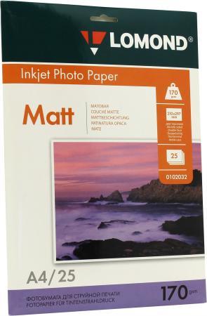 Бумага Lomond A4 170г/кв.м матовая двусторонняя 0102032 25л цена