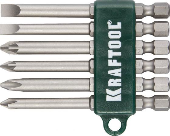 Набор бит Kraftool 26061-H6 6шт набор бит kraftool expert 26157 h33